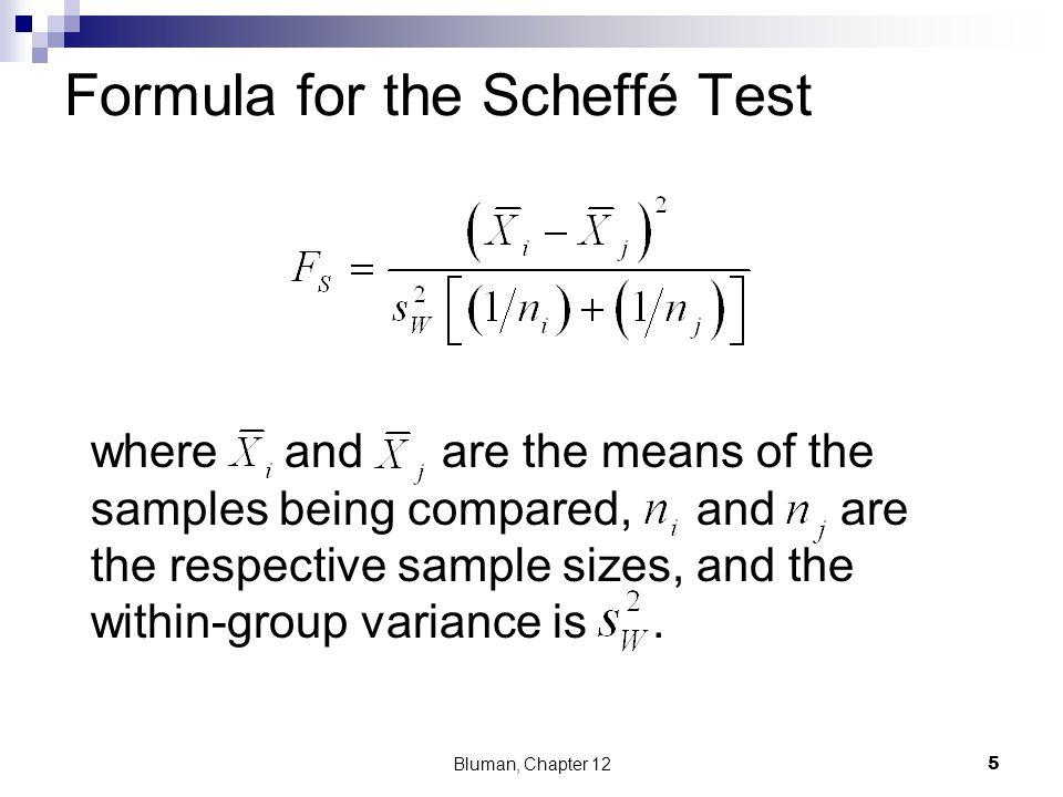 Formula for the Scheffé Test