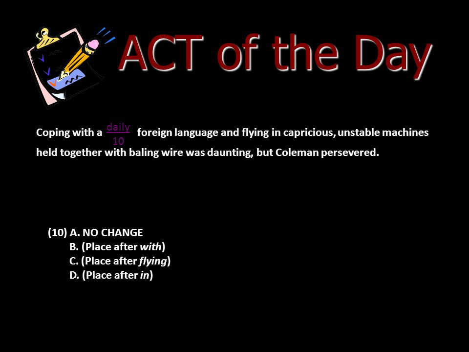 ACT of the Day