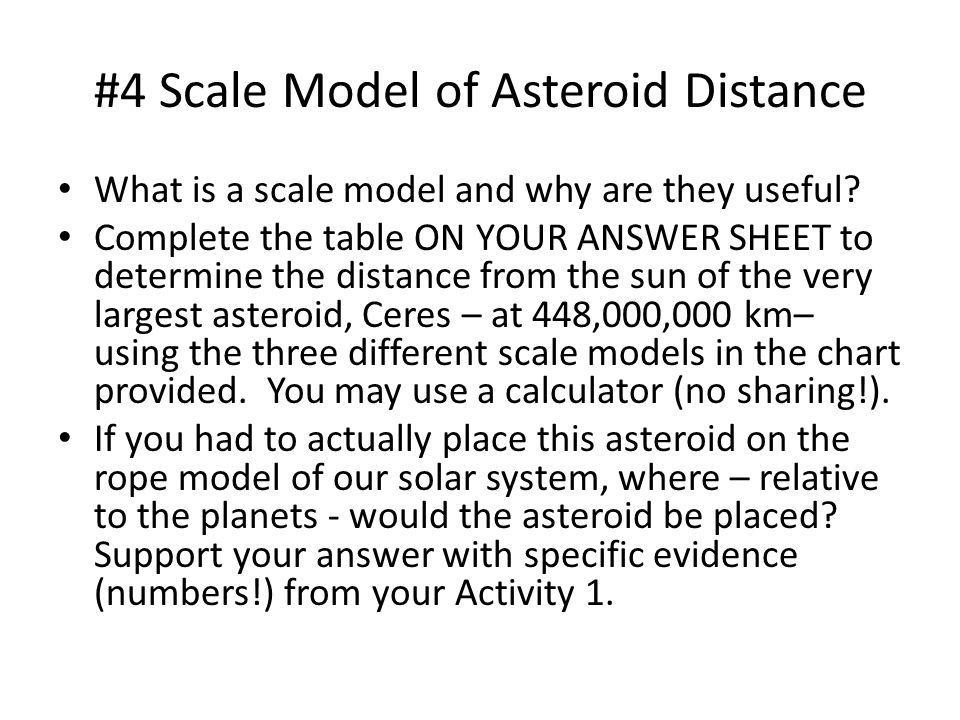 #4 Scale Model of Asteroid Distance