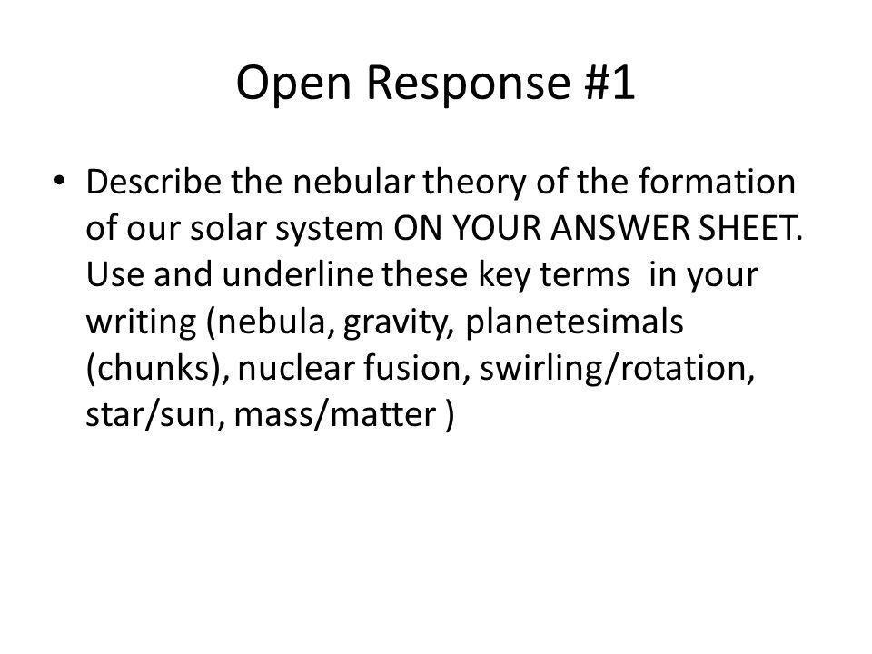 Open Response #1