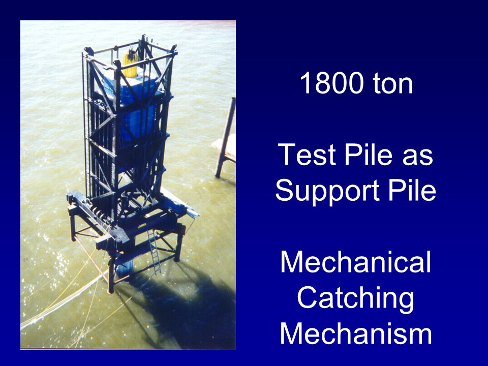 1800 ton Test Pile as Support Pile Mechanical Catching Mechanism