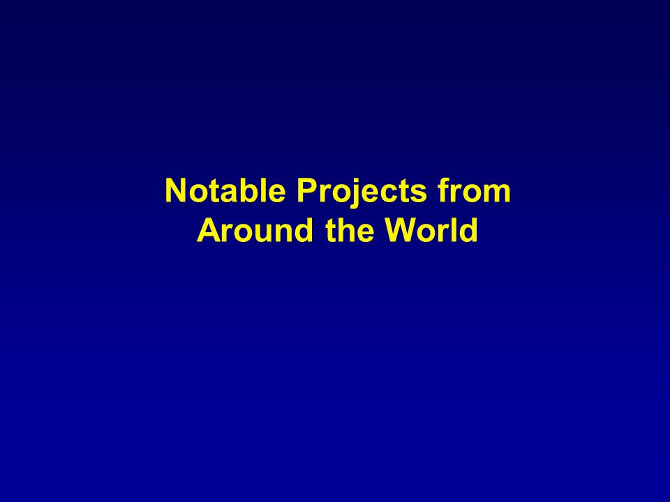 Notable Projects from Around the World