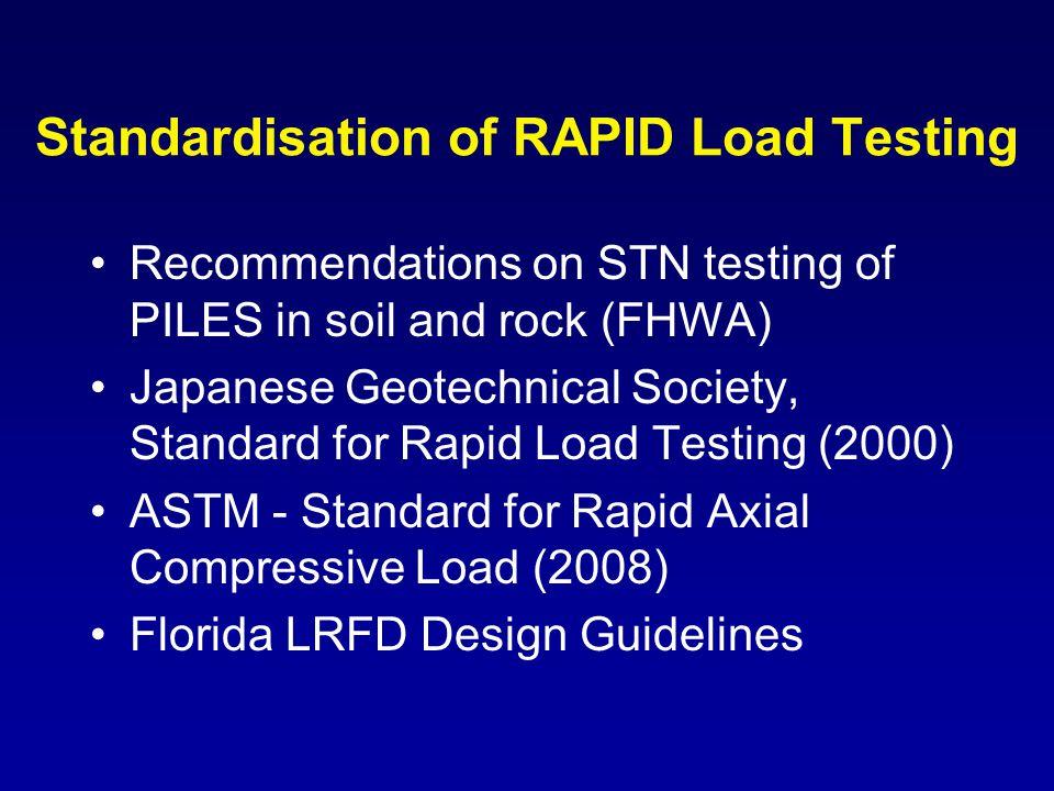 Standardisation of RAPID Load Testing