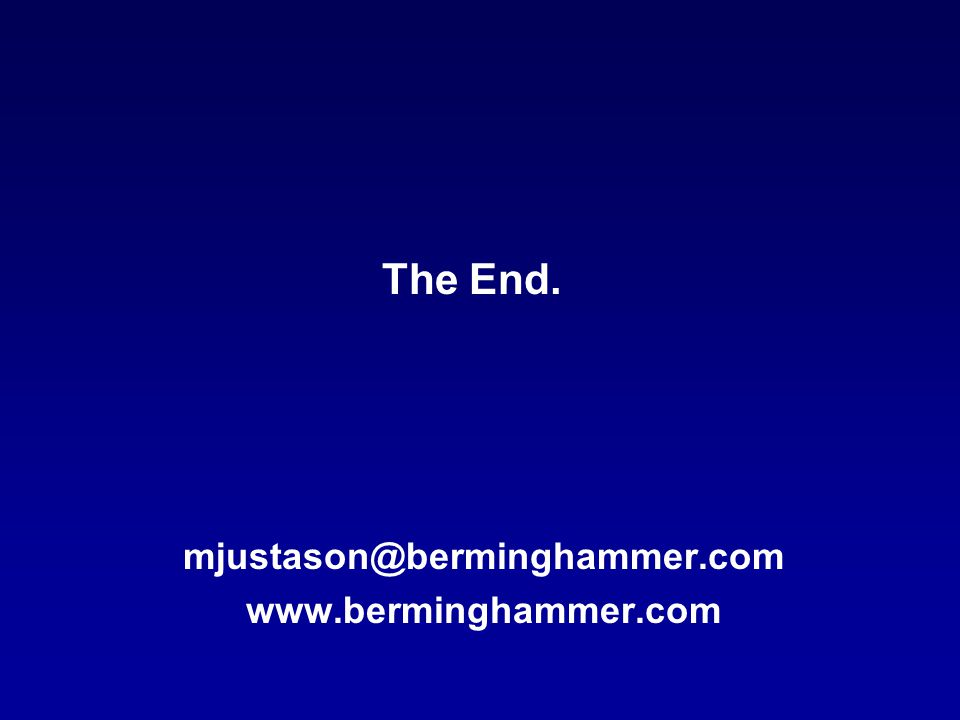 mjustason@berminghammer.com www.berminghammer.com