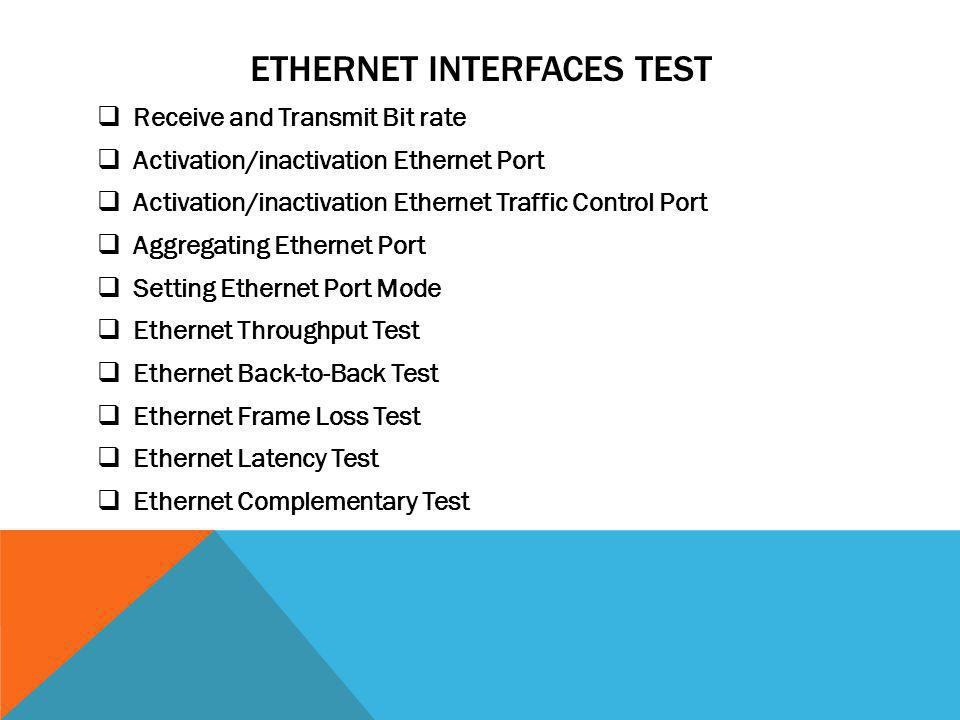 Ethernet interfaces test