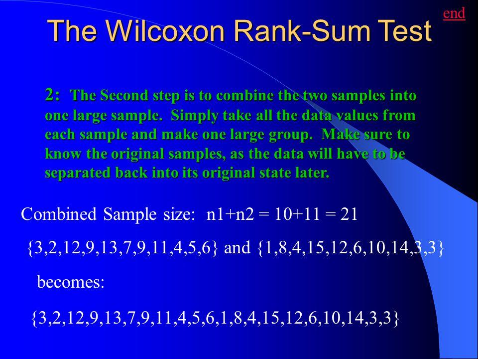 The Wilcoxon Rank-Sum Test