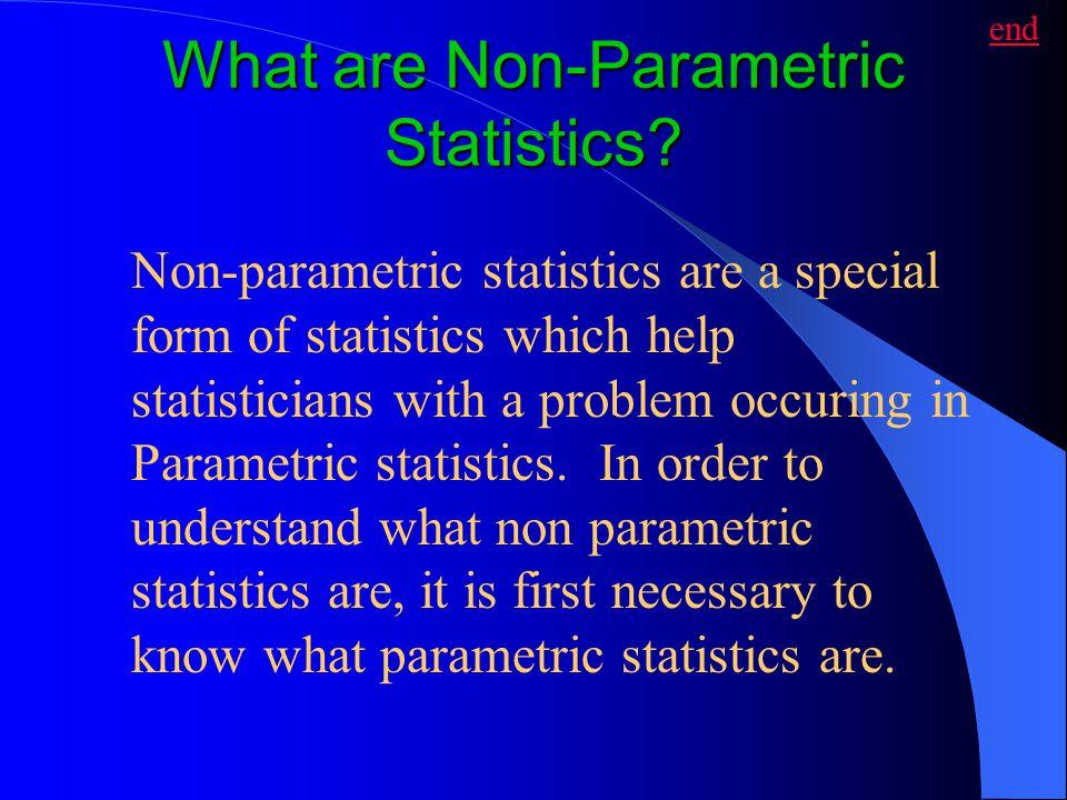 What are Non-Parametric Statistics