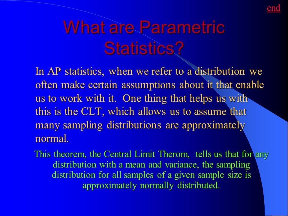 What are Parametric Statistics
