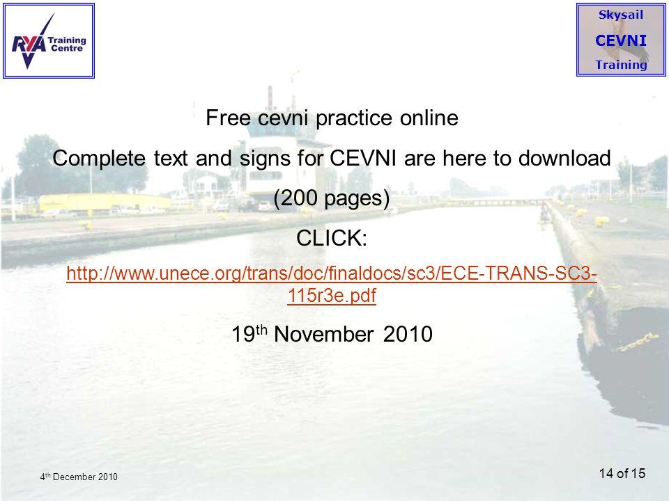 Free cevni practice online