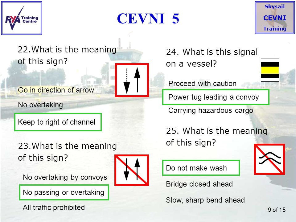 CEVNI 5 22.What is the meaning of this sign