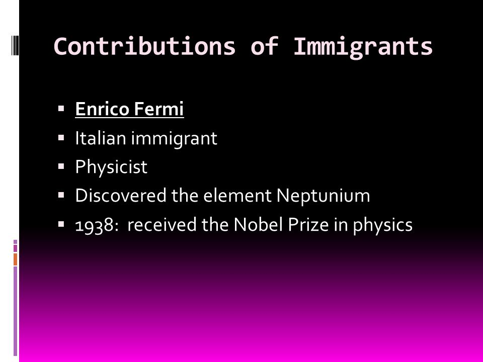 Contributions of Immigrants