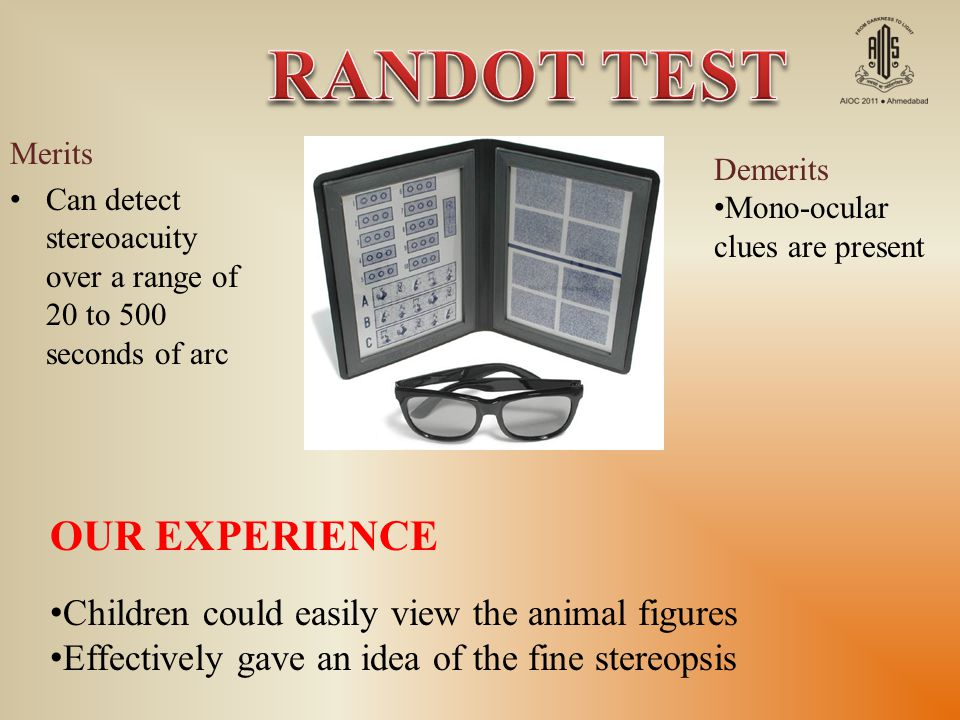 RANDOT TEST OUR EXPERIENCE