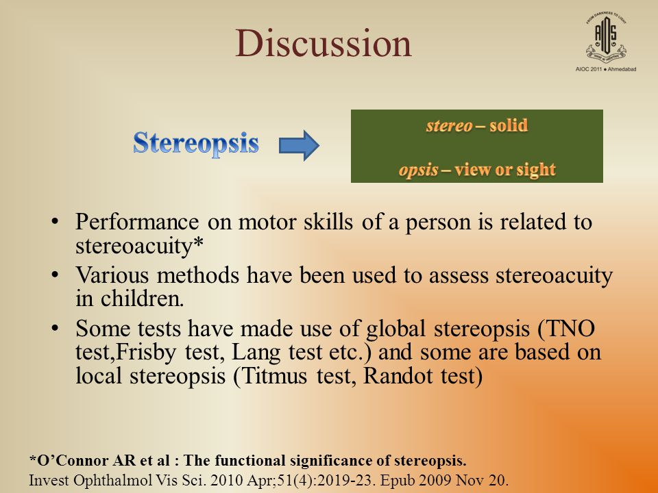 Discussion Stereopsis