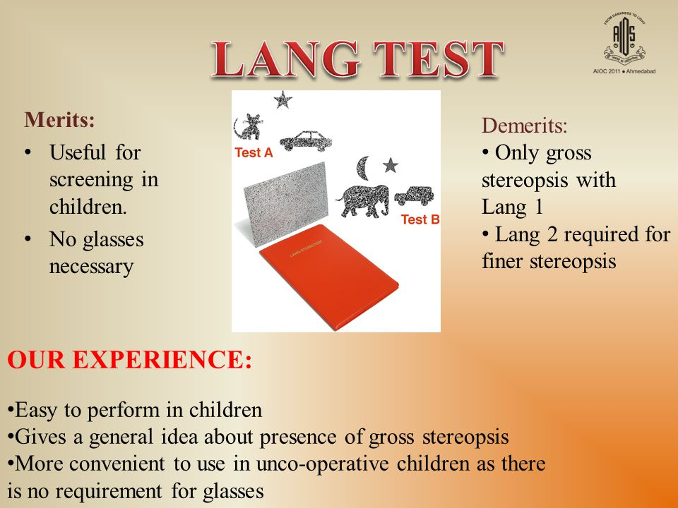 LANG TEST OUR EXPERIENCE: Merits: Demerits: