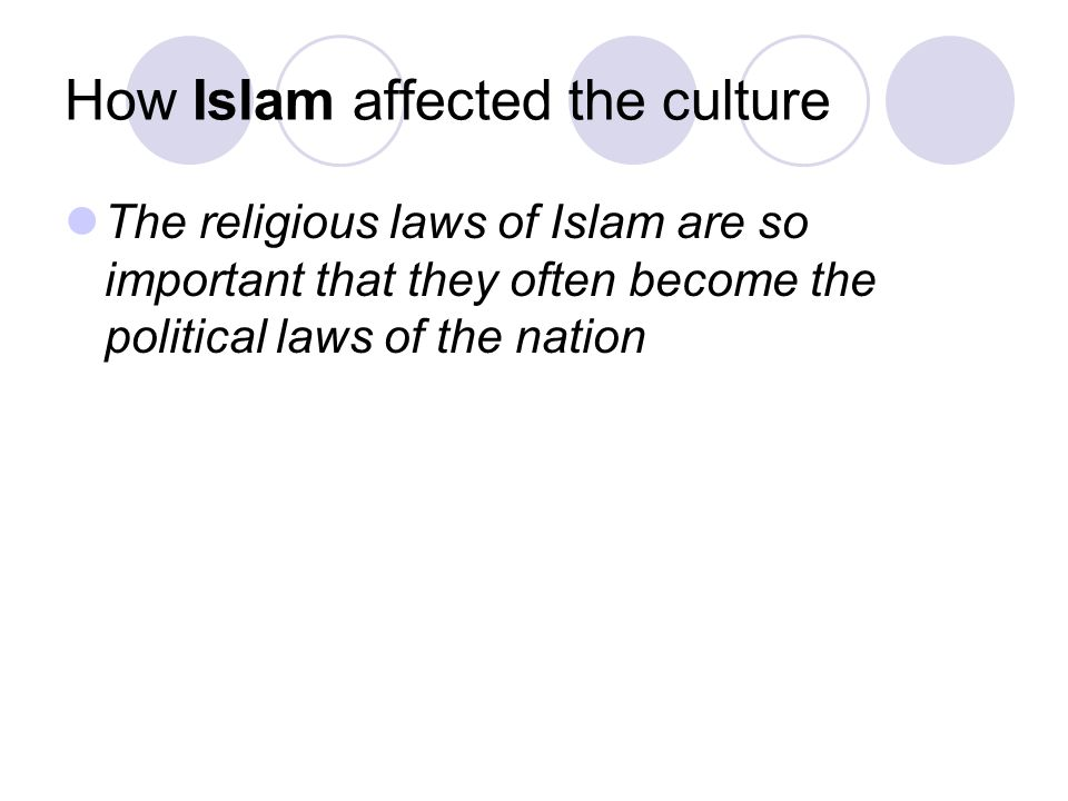 How Islam affected the culture