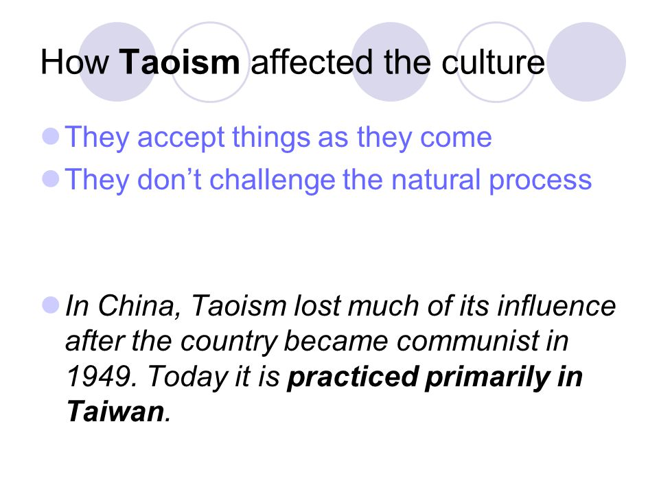 How Taoism affected the culture