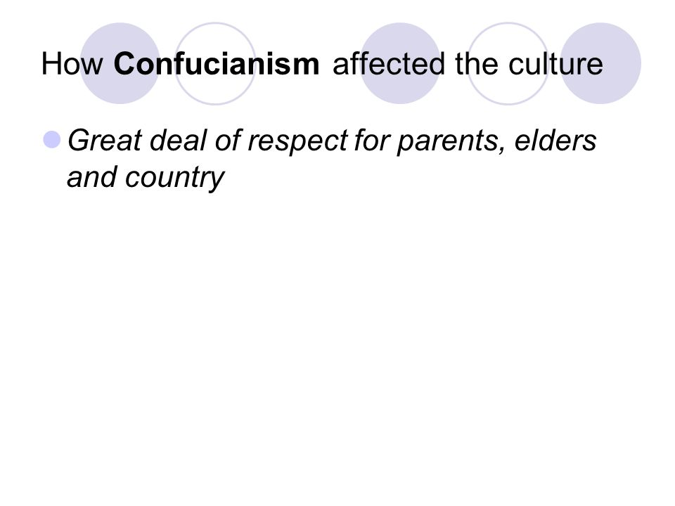 How Confucianism affected the culture
