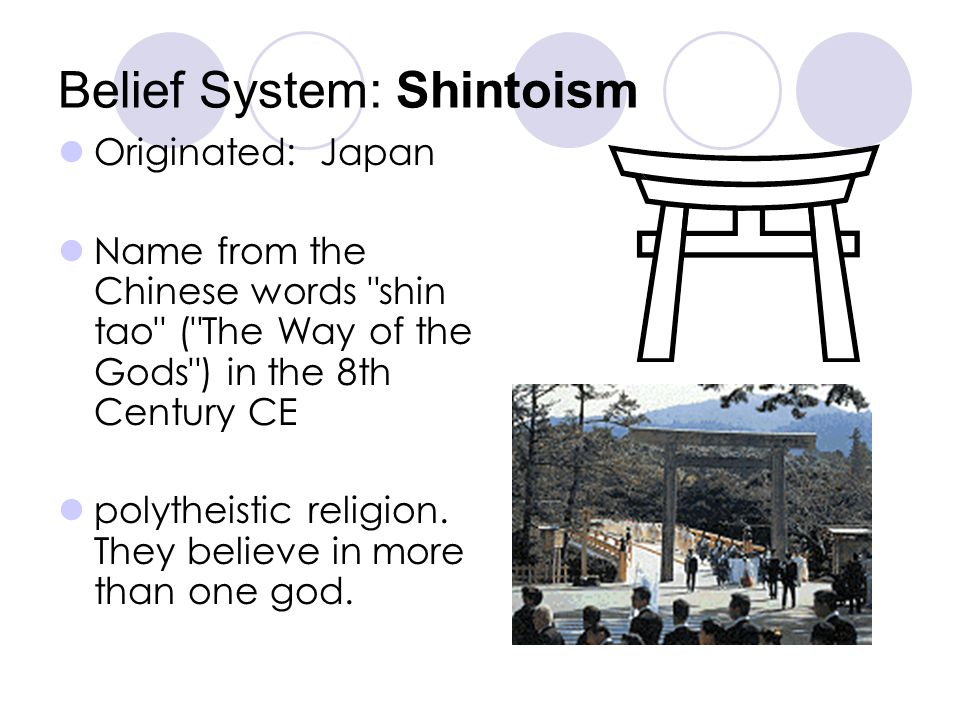 Belief System: Shintoism