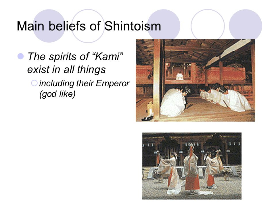 Main beliefs of Shintoism