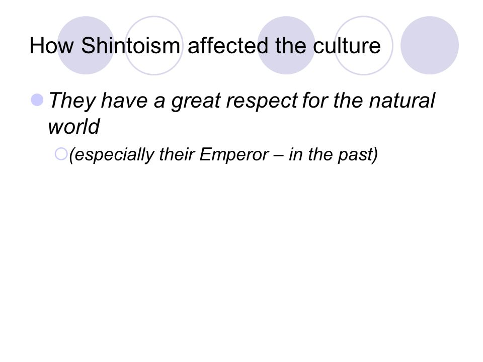 How Shintoism affected the culture