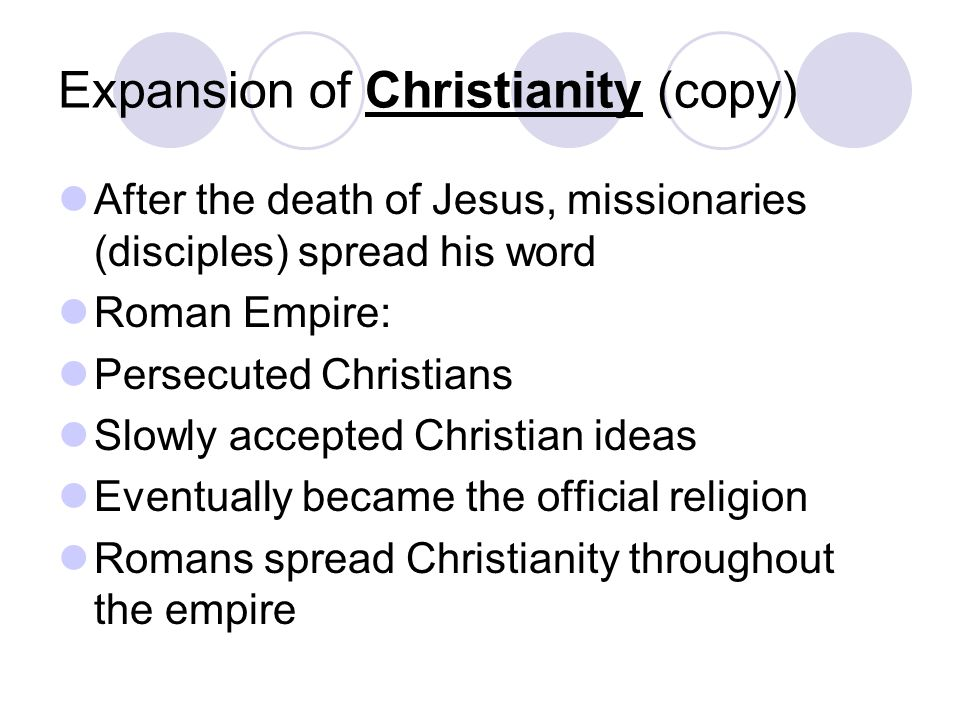 Expansion of Christianity (copy)