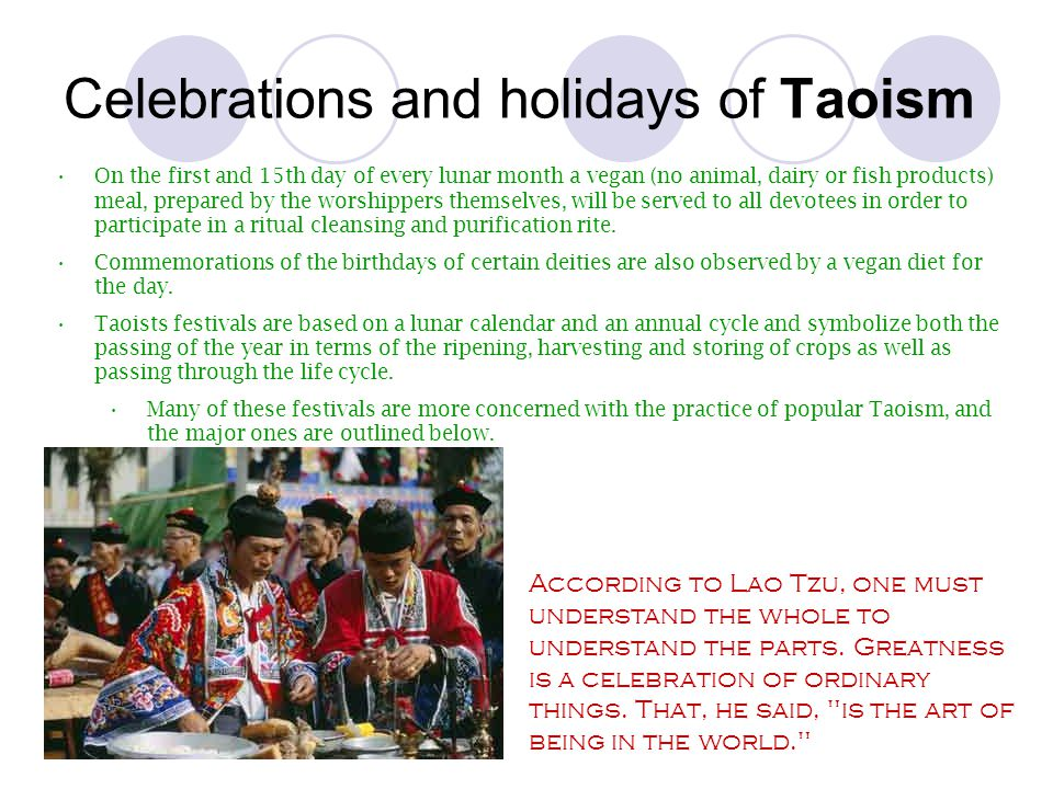 Celebrations and holidays of Taoism