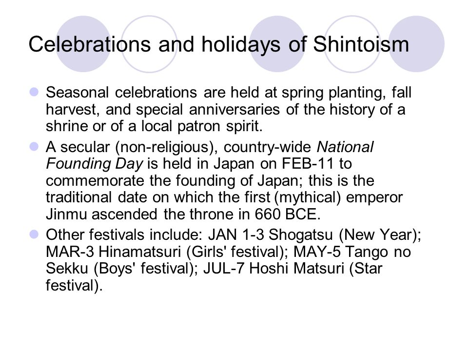 Celebrations and holidays of Shintoism