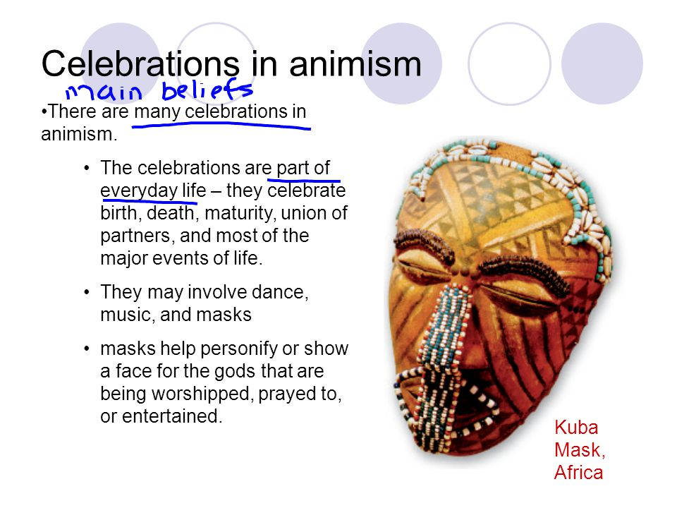 Celebrations in animism