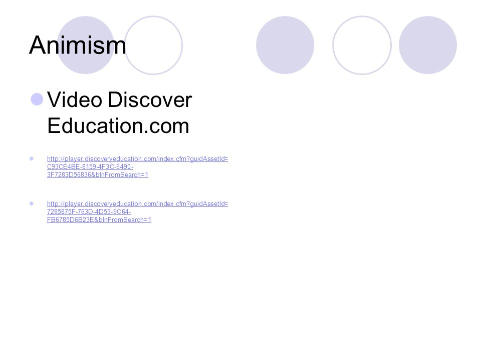 Animism Video Discover Education.com