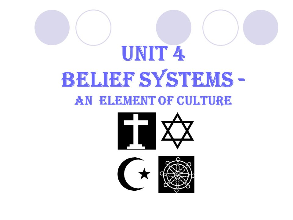 Unit 4 Belief Systems - An element of culture 3