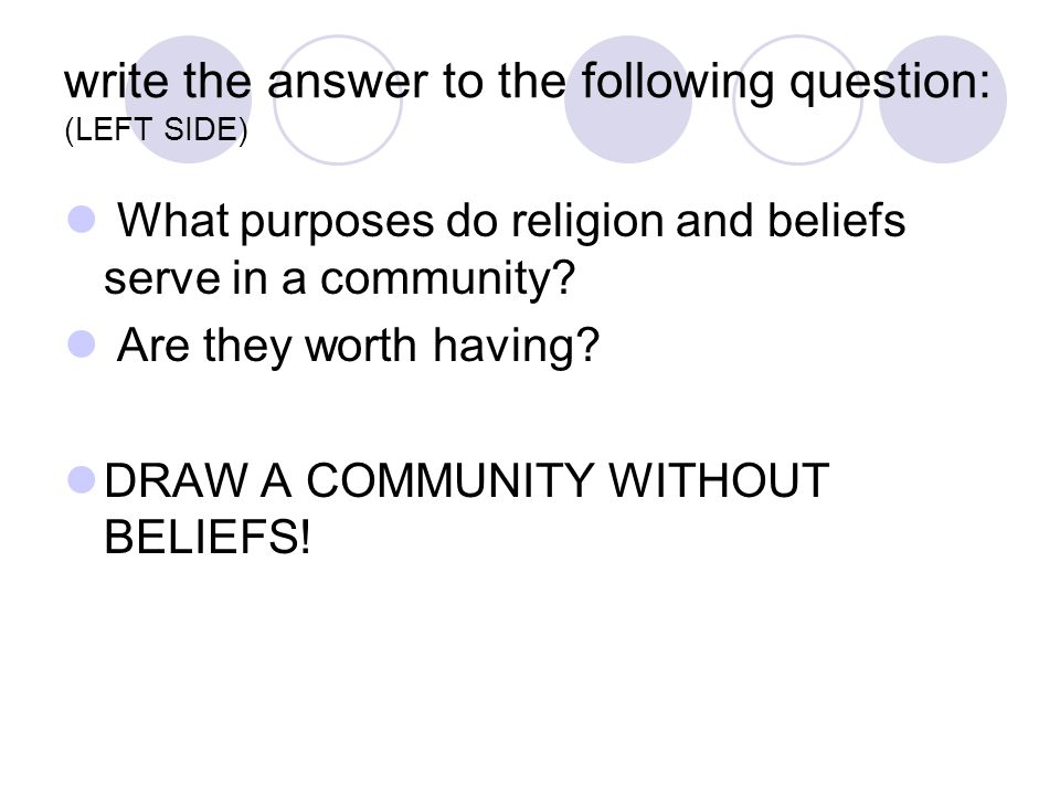 write the answer to the following question: (LEFT SIDE)