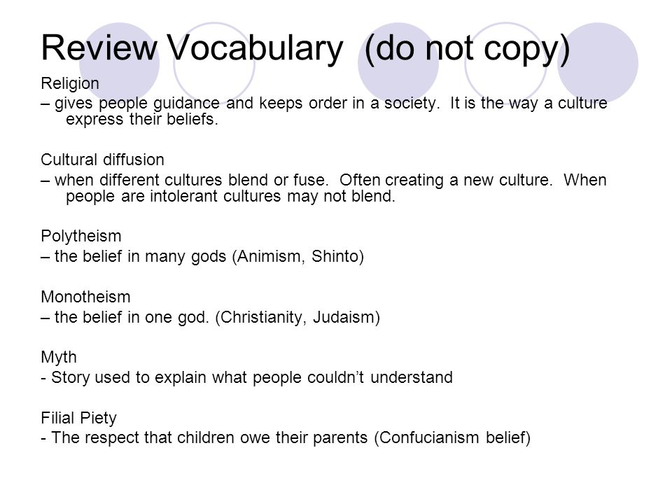 Review Vocabulary (do not copy)