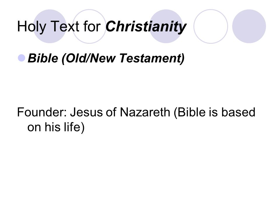 Holy Text for Christianity