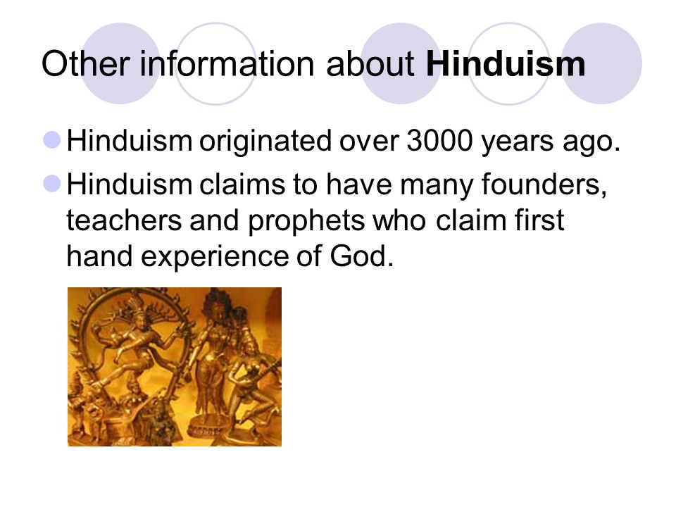 Other information about Hinduism