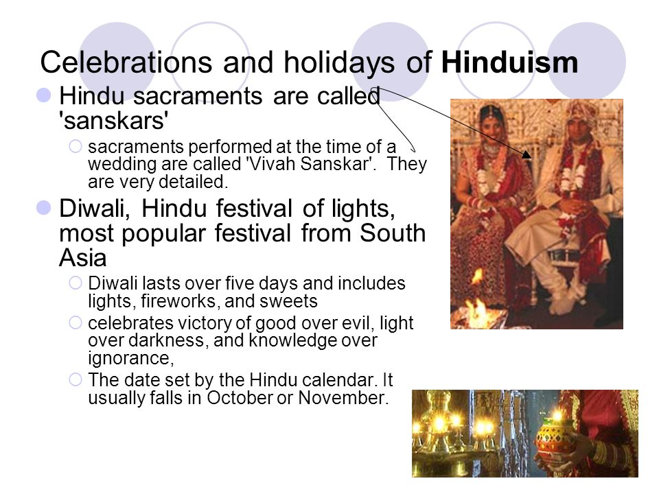 Celebrations and holidays of Hinduism