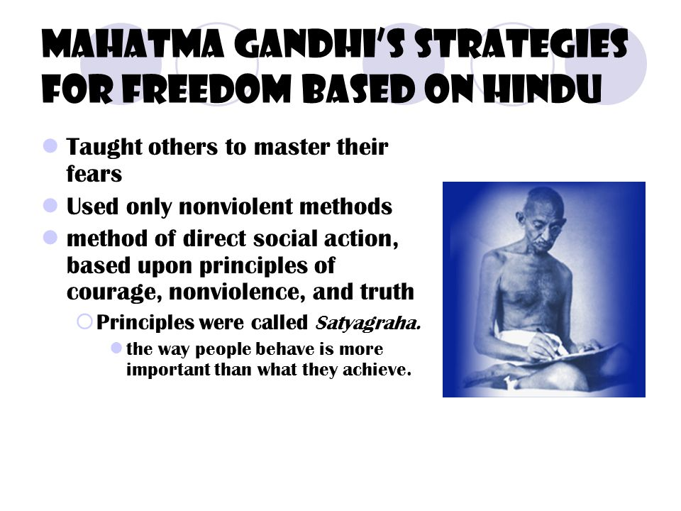Mahatma Gandhi's strategies for freedom based on hindu