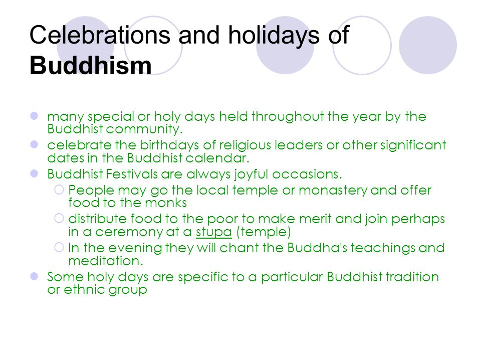 Celebrations and holidays of Buddhism