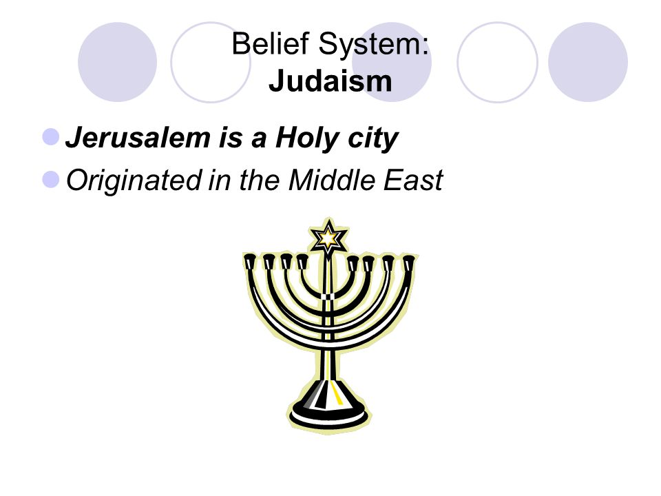Belief System: Judaism