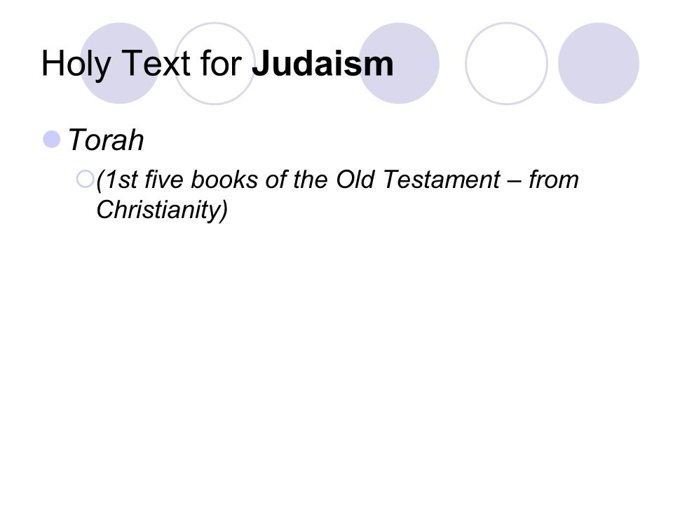 Holy Text for Judaism Torah