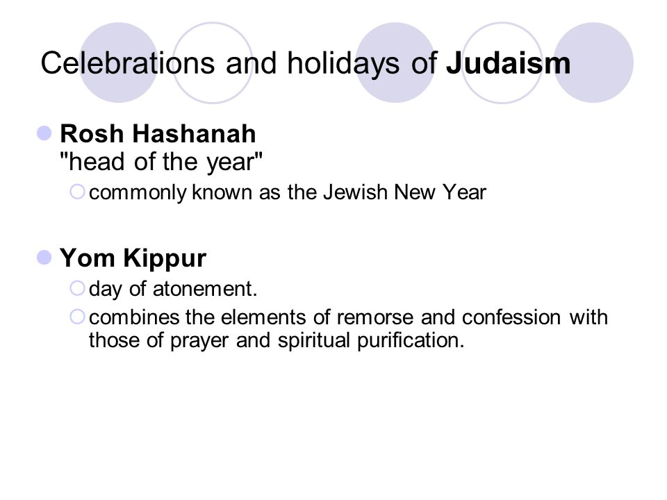 Celebrations and holidays of Judaism