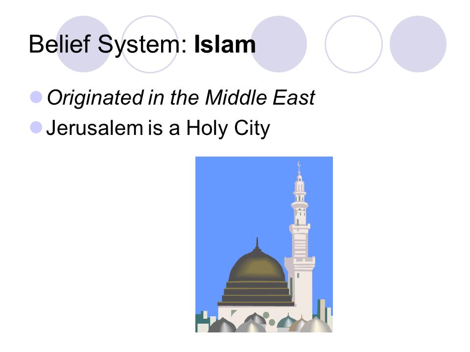 Belief System: Islam Originated in the Middle East