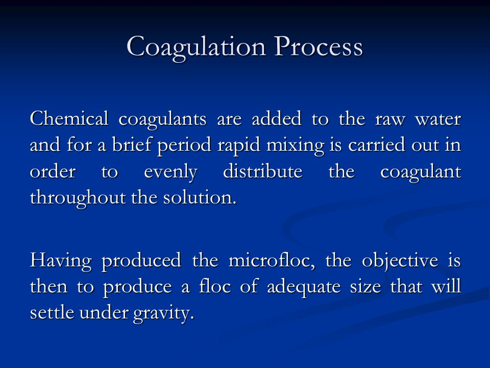 Coagulation Process