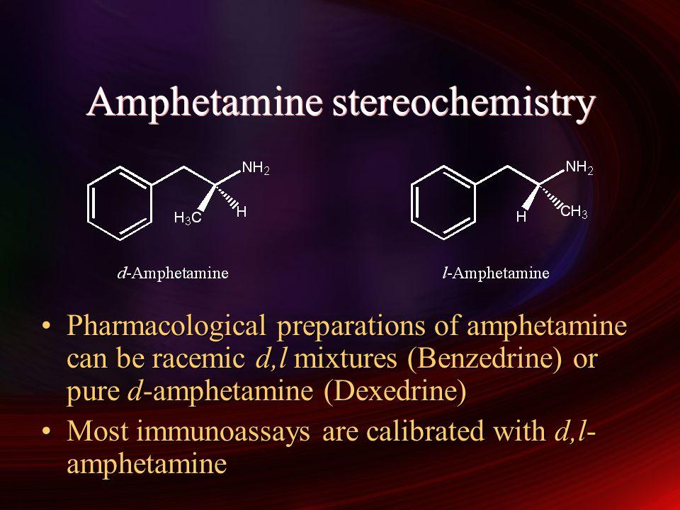 Amphetamine stereochemistry
