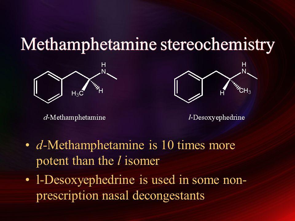 Methamphetamine stereochemistry