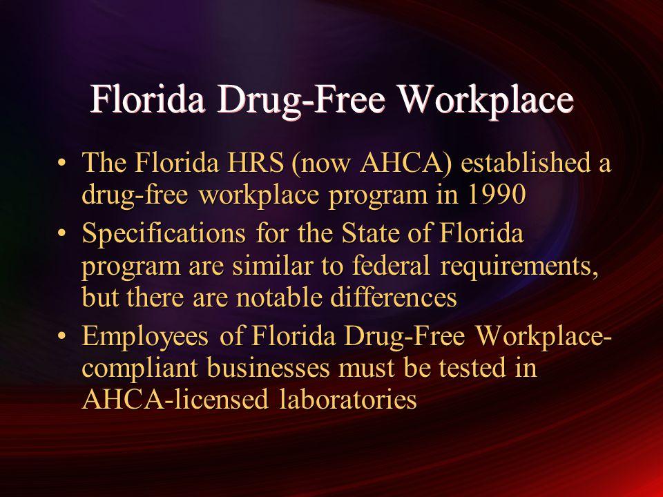 Florida Drug-Free Workplace