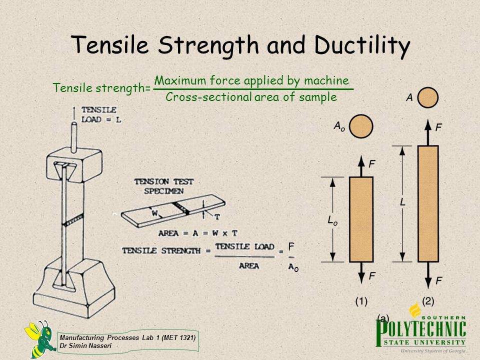 Tensile Strength and Ductility