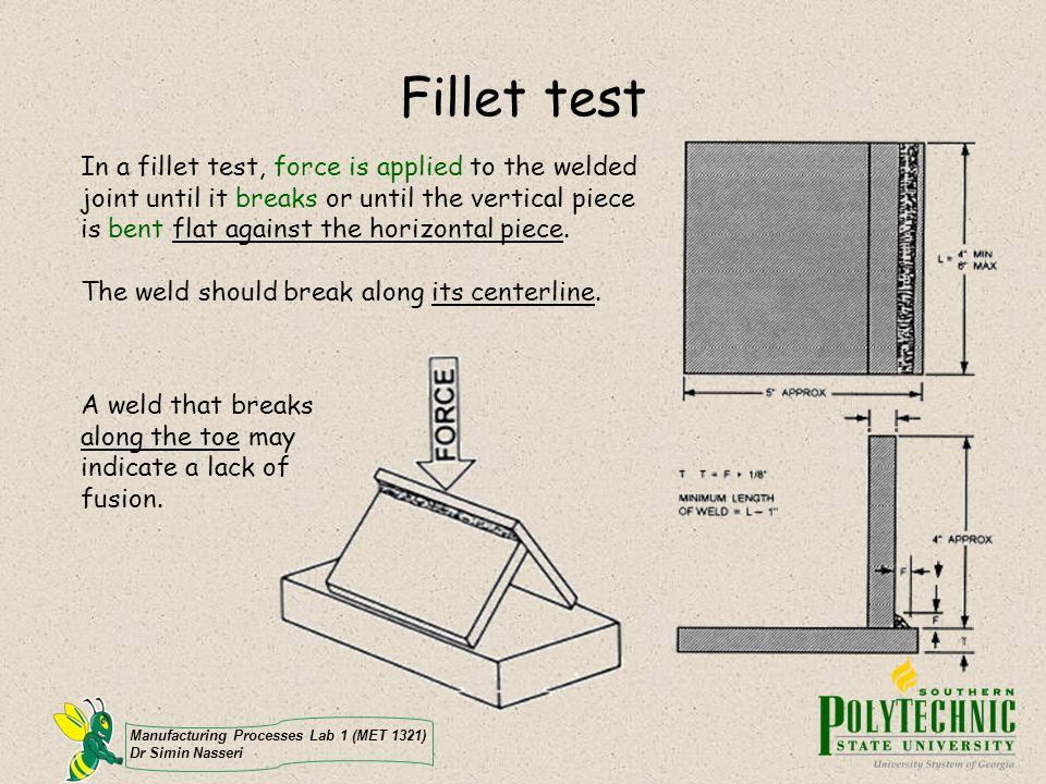 Fillet test