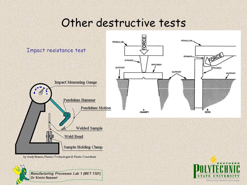 Other destructive tests