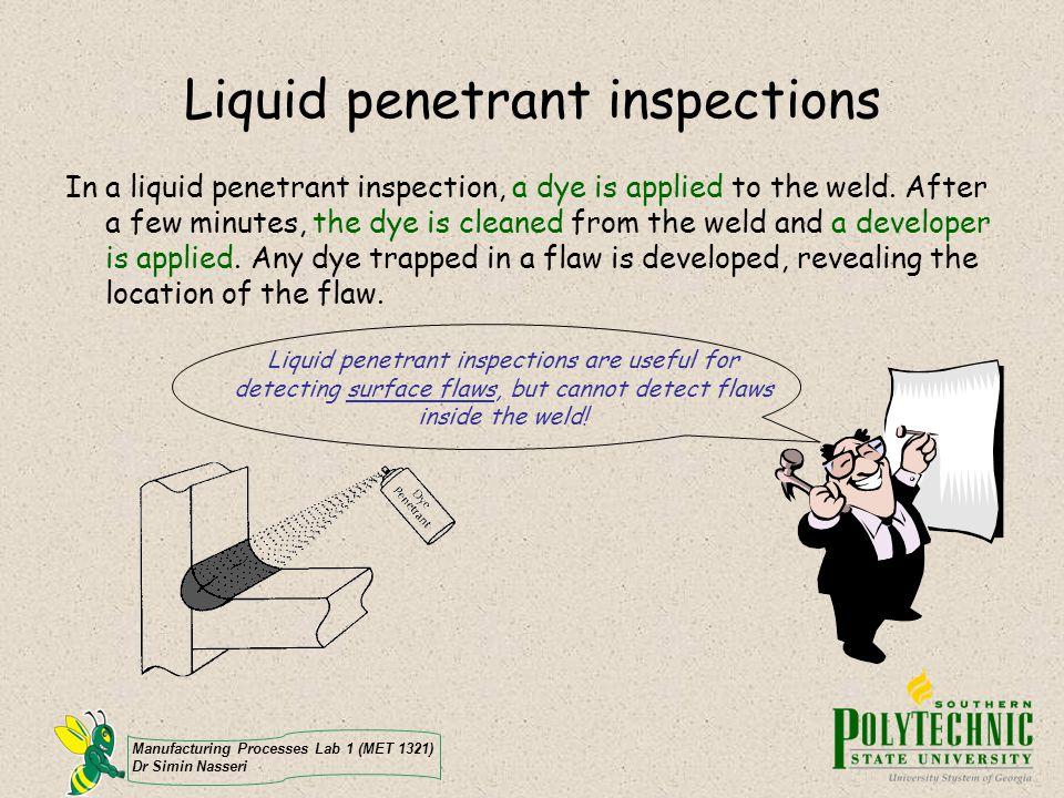 Liquid penetrant inspections