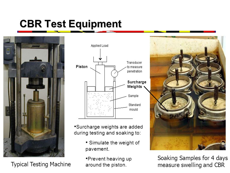 CBR Test Equipment Soaking Samples for 4 days measure swelling and CBR